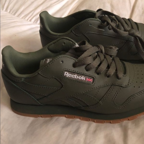 reebok shoes olive green